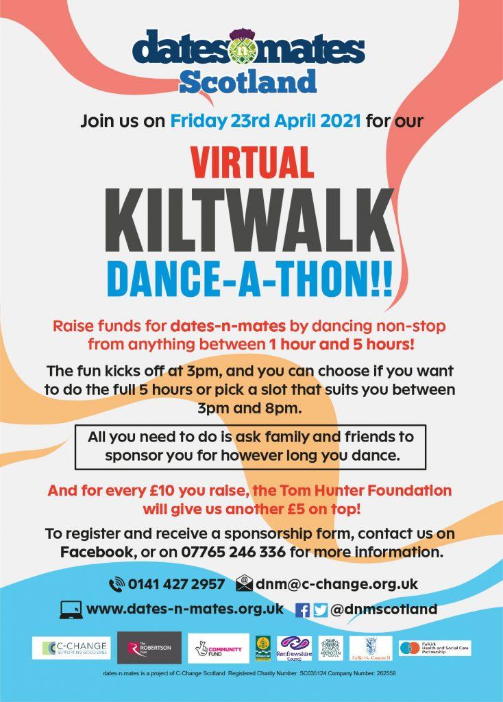 DnM Kiltwalk Dance-a-thon Poster
